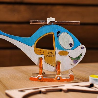 Malūnsparnio 3D modelis spalvinimui